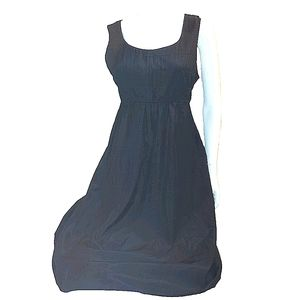 Lands' End Silk & Cotton Blend Dress with Tie